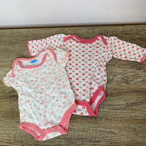 Bon Bebe Bundle of 2 Onesies Size 3-6 Months